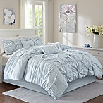 Madison 7-Piece King Comforter Set in Aqua