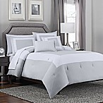Hotel Band 5-Piece King Comforter Set in Grey/White