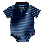 Under Armour® Size 0-3M Striped Polo Bodysuit in Blue/Black