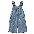 Oshkosh B'gosh® Size 9M Dino Shortalls in Slate