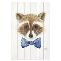 Marmont Hill 30-Inch x 45-Inch Raccoon Pinewood Art Print