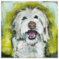 Marmont Hill Smiley Dog 18-Inch x 18-Inch Canvas Wall Art