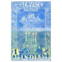 Parvez Taj India Postage 40-Inch x 60-Inch Canvas Wall Art