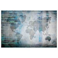 "Parvez Taj ""The World in Blue"" 24-Inch x 16-Inch Canvas Art"