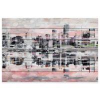 Parvez Taj Picturesque NYC 45-Inch x 30-Inch Pinewood Wall Art