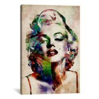 Watercolor Marilyn Monroe 40-Inch x 26-Inch Canvas Wall Art