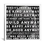 Mother Teresa Quote 12-Inch x 12-Inch Canvas Wall Art