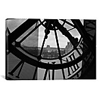 Clock Tower in Paris 26-Inch x 18-Inch Canvas Wall Art