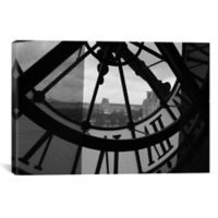 Clock Tower in Paris 60-Inch x 40-Inch Canvas Wall Art
