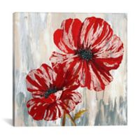 Red Poppies II 18-Inch x 18-Inch Canvas Wall Art