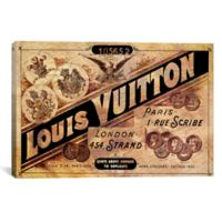 Vintage Louis Vuitton Advertisement 60-Inch x 40-Inch Canvas Wall Art