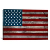 US Constitution American Flag 26-Inch x 18-Inch Canvas Wall Art