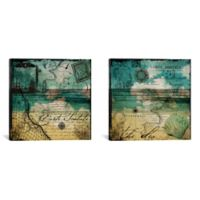 Ocean Cloud Diptych 60-Inch x 30-Inch Canvas Wall Art