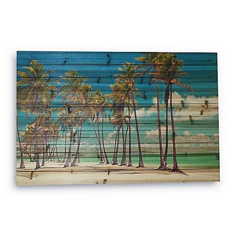 Gallery 57 Palm Trees Large Wood Wall Art Bed Bath Amp Beyond