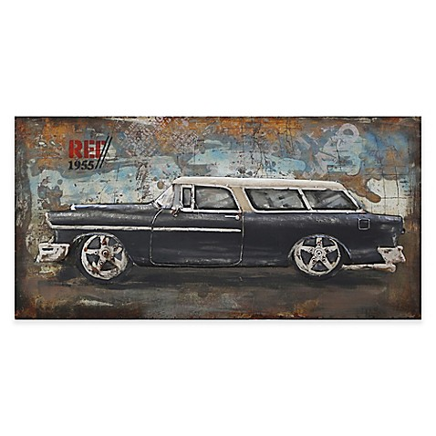 Moe 39 s home collection classic hot rod wall art bed bath for Classic home collection