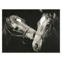 "Moe's Home Collection ""Happy Horses"" 36-Inch x 48-Inch Canvas Wall Art"