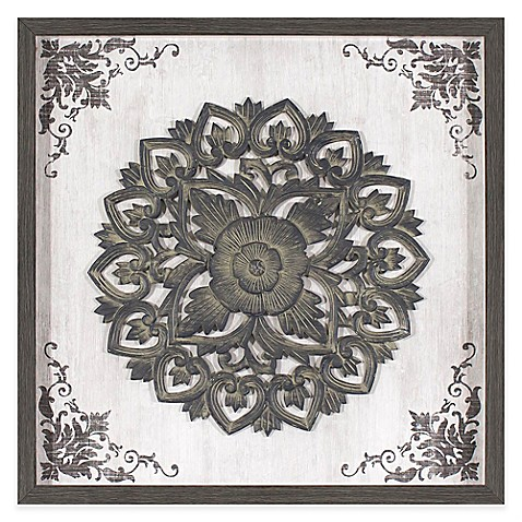 Circle Medallion  23-Inch x 23-Inch Framed Wall Art - Bed Bath u0026 Beyond  sc 1 st  Bed Bath u0026 Beyond & Circle Medallion