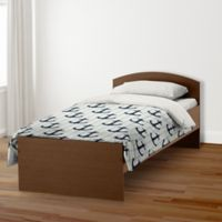 Designs Direct First Mate Collection Anchors Twin Duvet Cover in Blue