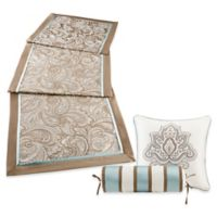 Madison Park Aubrey Bed Runner and Throw Pillow Set in Blue