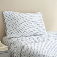 Hidden Retreat 300-Thread-Count Lake Dot Twin Sheet Set in Navy