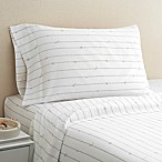Hidden Retreat 300-Thread-Count Lake Rope King Sheet Set in Taupe/White