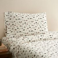 Hidden Retreat 300-Thread-Count Lodge Bear Full Sheet Set in Chocolate
