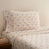 Hidden Retreat 300-Thread-Count Lodge Pressed Leaves Twin Sheet Set in Multi
