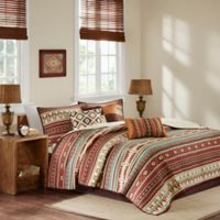 Madison Park Taos King/California King Coverlet Set in Spice