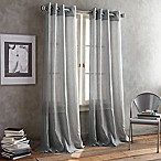 DKNY Parkside Grommet 108-Inch Window Curtain Panel in Pewter