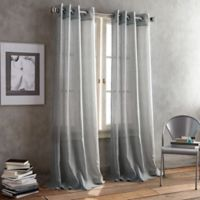 DKNY Parkside Grommet 95-Inch Window Curtain Panel in Pewter