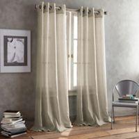 DKNY Parkside Grommet 95-Inch Window Curtain Panel in Linen