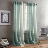 DKNY Parkside Grommet 95-Inch Window Curtain Panel in Aqua