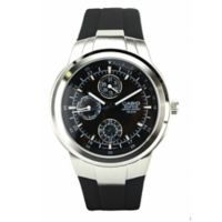 Casio Edifice Men's 41mm Multi-Function Watch in Stainless Steel with Black Resin Band