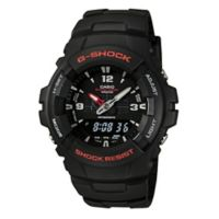 Casio G-SHOCK Men's 50mm Classic Analog/Digital Watch in Black Stainless Steel with Black Strap