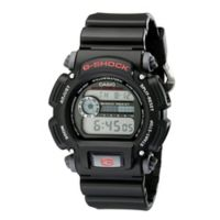Casio G-SHOCK Men's 49mm Classic Digital Watch in Black with Red Detail and Black Strap