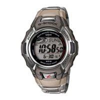 Casio G-Shock Men's 46mm Tough Solar Atomic Sport Watch in Black/Tan Resin