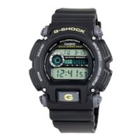 Casio G-SHOCK Men's 49mm Classic Digital Watch in Black with Yellow Detail and Black Strap