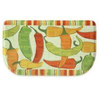 Bacova 18-Inch x 30-Inch Spicy Peppers Memory Foam Kitchen Mat in Orange/Green
