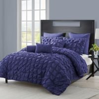 VCNY Madalyn 6-Piece Twin XL Comforter Set in Navy