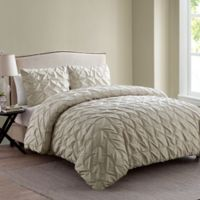 VCNY Madalyn Twin XL Duvet Cover Set in Taupe
