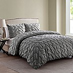 VCNY Madalyn Queen Duvet Cover Set in Charcoal