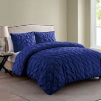 VCNY Madalyn Queen Duvet Cover Set in Navy
