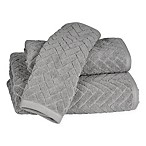 Chevron Bath Towel in Charcoal