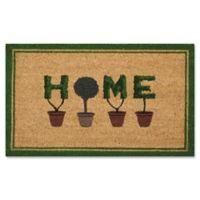 Nourison Topiary Home 18-Inch x 30-Inch Coir Door Mat