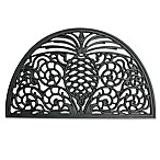 18-Inch x 30-Inch Pineapple Rubber Slice Door Mat in Black