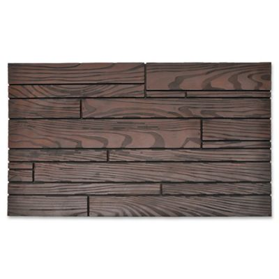 18 Inch X 30 Inch Random Slat Door Mat In Brown