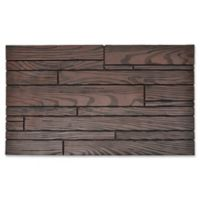 18-Inch x 30-Inch Random Slat Door Mat in Brown