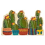 Mohawk Home Shaped Cactus 18-Inch x 30-Inch Coir Door Mat in Green/Yellow