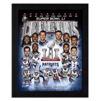 "NFL New England Patriots ""Super Bowl LI Champions"" Framed Team Composite Photo"