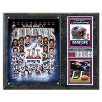 NFL New England Patriots Super Bowl LI Plaque with Metal Plate